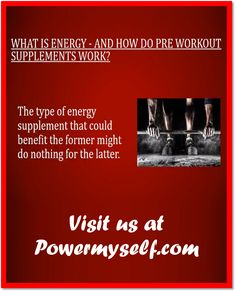 Visit http://www.powermyself.com/rich-piana-5-nutrition-alldayyoumay.html and http://www.powermyself.com/type/pre-workout. Good pre workout supplements work to enhance your mental focus, stimulate the body, and encourage intense push that may only be identified as workout rage.