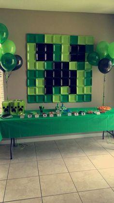 Ideas para decorar una fiesta Minecraft CatchMyParty.com!