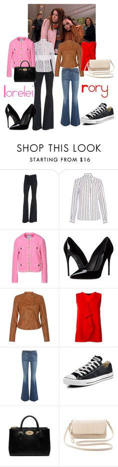Gilmore Girls Window Shopping by ejsmash on Polyvore featuring Alexis Mabille, Proenza Schouler, Moschino, Frame Denim, Tom Ford, Dolce&Gabbana, Converse, Charlotte Russe and Mulberry