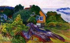 Art Collection, bofransson: The House by the Fjord Edvard Munch...
