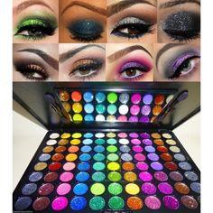 Beauty Treats 88 PRO Glitter Cream Color Eye Shadow Makeup Eyeshadow Palette by Beauty Treats Glitter Eyeshadow Palette, Cream Eyeshadow, Eyeshadow Makeup, Makeup Cosmetics, Makeup Goals, Makeup Kit, Beauty Makeup, Beauty Care, Makeup Ideas