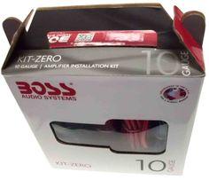 NEW BOSS AUDIO LINK KIT-ZERO 10 GAUGE 10GA AMP AMPLIFIER INSTALLATION KIT