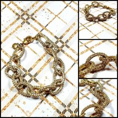 J Crew gold tone pave link bracelet work chic boss babe trendy  #JCREW #femaleentrepreneur #Femaleownedbusiness #newyorkfashionweek #fashion #chic #bossbabe #Jcrew #fashionblogger  # #classic #timeless #J.crew #forsale #ebay   #aesthetic #shopping #shop  #aesthetic #artistic #art #artform #beauty   #jewelry