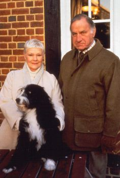 """Geoffrey Palmer (as Lionel Hardcastle) (with Judy Dench) in """"As time goes by"""""""