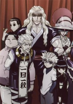 Hunter x Hunter - Zoldyck family members (I never quite understood how the parents got together...)