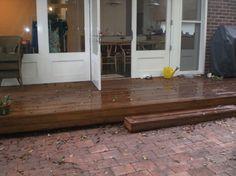 rainwater hog - hidden under decking