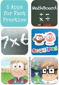 3rd Grade Thoughts: 5 iPad Apps for Math Fact Practice