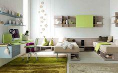 Mensole cameretta ~ Cameretta completa di cabina armadio ad angolo divano letto