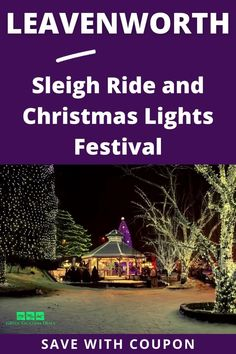 Do you want to experience the most popular annual holiday tradition in Washington without all the hassle? Then you should take a trip from Seattle to Leavenworth for the Christmas Lighting Festival through Customized Tours! You'll enjoy a sleigh ride