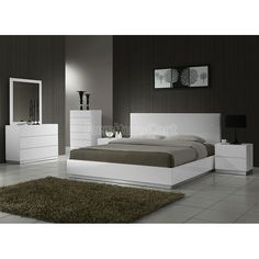 Naples Platform Bedroom Set