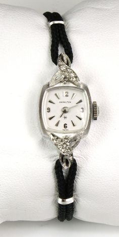 Vintage Ladies Hamilton 14k White Gold Watch by WilsonvilleDiamond, $399.00. I stare at this in the case everyday trying to figure out how to pay for it. I love it and the fact that it works perfectly makes it that much more awesome.