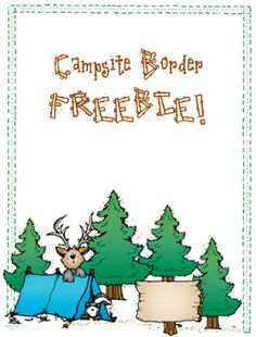 This Campsite Border FREEBIE could be just the thing for Father's day! Write dad a nice note, invite him on a backyard camp-out or write about your favorite outdoor memory with him! (only available through 6/4/14)
