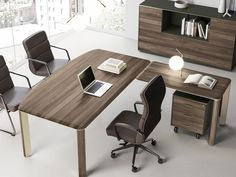 IULIO | Sectional office desk By Las Mobili Contemporary Office Desk, Contemporary Style, Executive Room, Meeting Table, Office Furniture, Cabinet, Storage, Furnitures, Home Decor