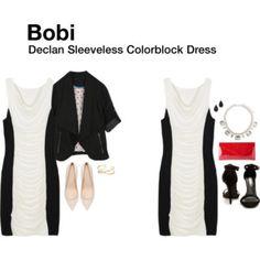 Bobi Declan Sleeveless Colorblock Dress