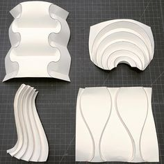 Image result for huffman curved crease cardboard