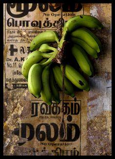 BANANA~Bananas in a market, India