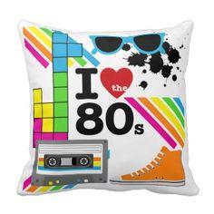 I Love the 80s Cushion/Throw Pillow
