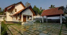 കൗതുകങ്ങൾ നിറയുന്ന വീട്, ഒപ്പം വാസ്തുവും! വിഡിയോ   Home Plans Kerala   House Plans Kerala   Home Style   Manorama Online Village House Design, Kerala House Design, Village Houses, Modern House Design, Traditional House Plans, Traditional Design, Home Exterior Makeover, Kerala Houses, Brick Architecture