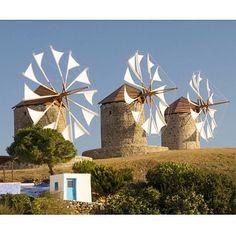 Windmill on Patmos island, Greece Myconos, Classical Greece, Old Windmills, Greek Isles, Parthenon, Greece Islands, Le Moulin, Eurotrip, Beautiful Islands