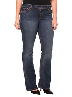 Torrid Denim - Isabella Virtual Stretch Slim Bootleg Jeans (Extra Short) | Torrid