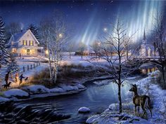 terry redlin christmas wallpaper - Google Search