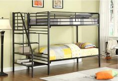 Choosing a futon bunk bed designs for your child's room may seem confusing at first. There are so many types, styles, materials and price . Futon Bunk Bed, Bunk Bed With Trundle, Bunk Bed Plans, Full Bunk Beds, Bunk Beds With Stairs, Kids Bunk Beds, Full Bed, Cheap Bunk Beds, Metal Bunk Beds