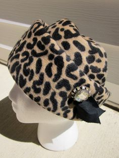 Leopard Print Vintage Hat by wowitsvintage on Etsy, $45.00