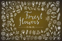Forest flowers By Redchocolate Illustration