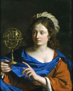 Guercino: Personification of Astrology, 1650-1655, oil on canvas, Blanton Museum of Art, Austin, TX.