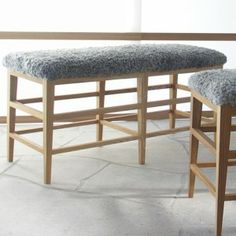 Gad Fårö Gotland woollen Fleece Upholstered Bench