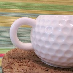 Golf Ball Mug - Repinned by APE Brushes. Learn about our greens brushes and top dressers at http://www.apebrushes.com.