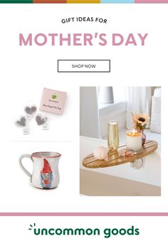 Find the best Mothers Day Gifts she'll love at Uncommon Goods. Our unique gift ideas for mom on this special occasion will celebrate her with sentiment and style and show her just how much you care! Funny Birthday Gifts, Birthday Gifts For Women, Christmas Gifts For Mom, Valentine Day Gifts, Marble Mugs, Unique Gifts For Mom, Presents For Mom, Milestone Birthdays, Wine Gifts