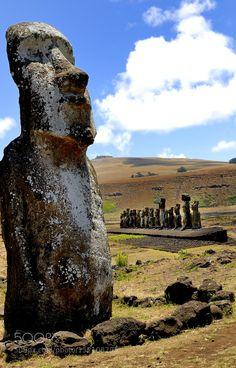 Popular on 500px : The Traveling Moai -Ahu Tongariki by mainz