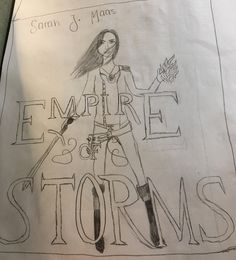 A drawing of one of my books