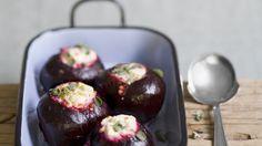 Rezept: Rote Bete-Knollen mit Linsen-Schafskäse-Füllung