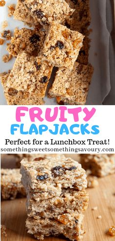 Get ready to say hello to your new favourite flapjack recipe! These classic Fruity Flapjacks are soft, chewy and so delicious. They make the perfect lunchbox treat or mid afternoon pick me up! Baking Tins, Baking Recipes, Cake Recipes, Baking Ideas, Lunch Box Recipes, Snack Recipes, Lunchbox Ideas, Delicious Recipes, Vegetarian Recipes