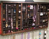 Various Etsy shops that sell typeset trays or drawers to use as jewelry displays.