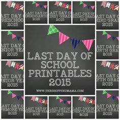 Last Day Of School Printables | The Shopping Mama #lastdayofschool #freeprintable #theshoppingmama