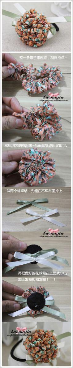 DIY时尚发饰手工教程,内容来自宝妈新浪博客