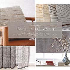 FALL INTO TEXTURES 2017 Beautiful textural Woven-to-Size designs.  . . . #hartmannforbes #natural #custom #handwoven #windowtreatments #romanshades #rollershades #interiordesign #interiordecor