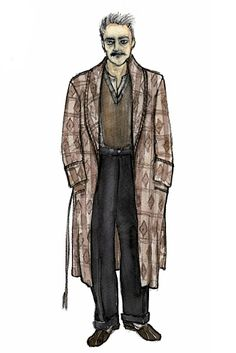 A costume sketch from Golden Boy by Tony-nominated designer Catherine Zuber.