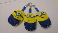 I can totally do this. Despicable Me Party, Minion Party, Sewing Projects, Projects To Try, Felt Projects, Minion Craft, Wool Applique, Felt Toys, Felt Ornaments