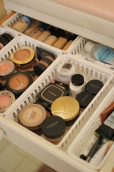I could also use these types of drawers for makeup.