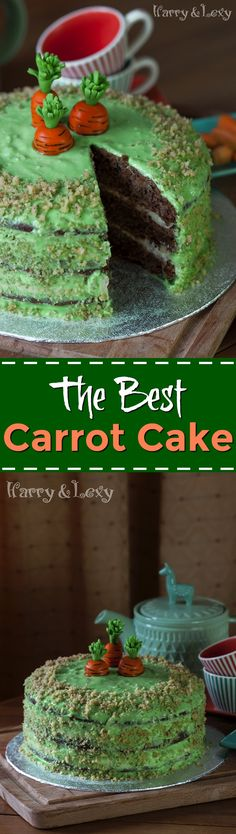 Delicious and tasty, this is the best carrot cake recipe I have ever tried!