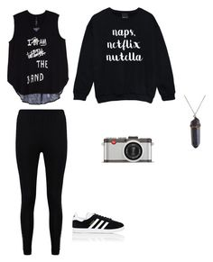"""Harley date"" by ana-vivier ❤ liked on Polyvore featuring Boohoo, adidas, Melissa McCarthy Seven7, Leica and plus size clothing"