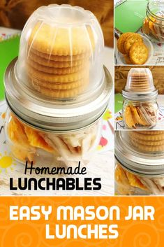 Mason Jar lunches are made easy with these homemade lunchables DIY! They are one of many school lunch ideas and work great for a quick after-school snack. Homemade lunchables in mason jars are one of my kids' favorites! Mason Jar Lunch, Mason Jar Meals, Meals In A Jar, Mason Jars, Snack Jars, Healthy Bedtime Snacks, Healthy Snacks, Healthy Recipes, Fast Recipes