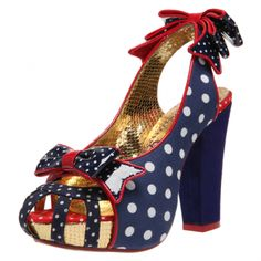 Polka dots and bows. Aphrodite from Irregular Choice Red Shoes, Me Too Shoes, Irregular Choice, Aphrodite, Red White Blue, Your Shoes, To My Daughter, Fashion Beauty, Christian Louboutin