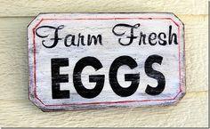 fresh eggs sign Chicken Coop Decor, Chicken Signs, Chicken Humor, Chicken Art, Funny Chicken, Chicken Coops, Rustic Signs, Wooden Signs, Painted Signs