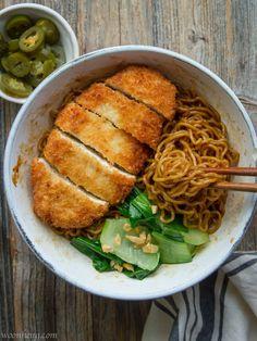 Crunchy Tofu Katsu Noodle Bowl |Vegan, Comfort food - WoonHeng