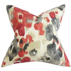Delyne Floral Throw Pillow Cover (Size), Multi, Size 18 x 18 (Fabric)